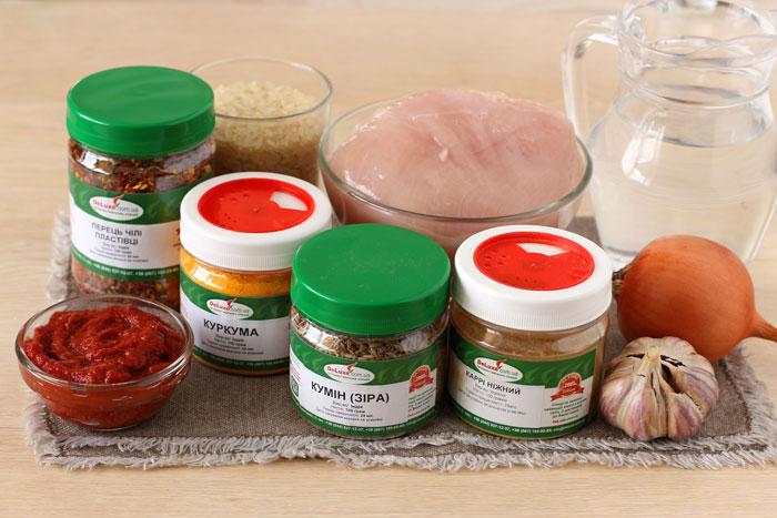 Ингредиенты для карри