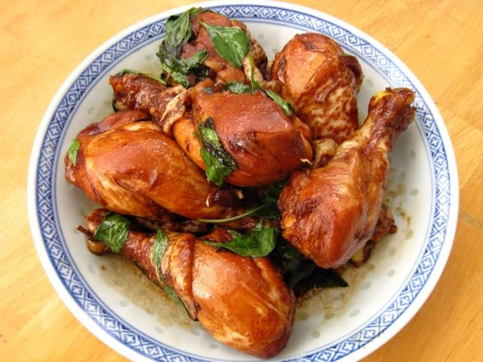 Курица с шафраном и корицей